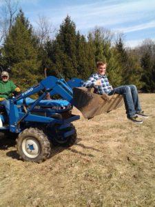 Rich in tractor bucket